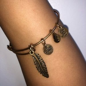 Feather Alex and Ani Bracelet